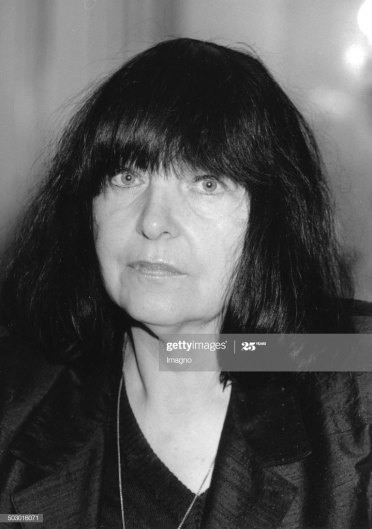 The Austrian poet Friederike Mayröcker. About 1985. Photograph. (Photo by Votava/Imagno/Getty Images)